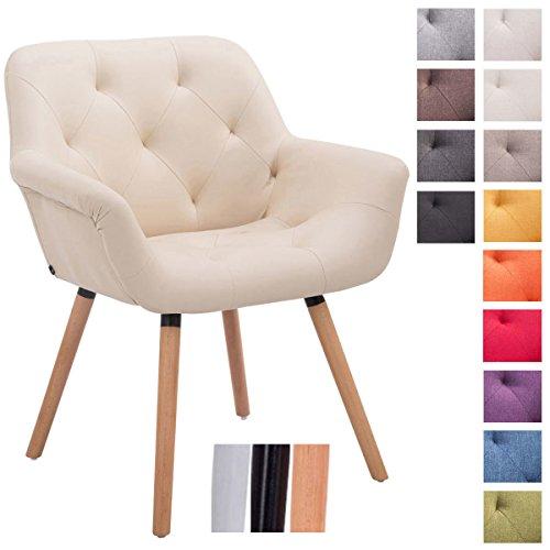 clp besucher stuhl cassidy stoff bezug belastbar bis 150 kg retro stuhl mit armlehne. Black Bedroom Furniture Sets. Home Design Ideas
