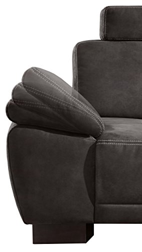 cavadore 5156 polsterecke cytaro 3 sitzer mit armteilfunktion links ottomane rechts inklusive. Black Bedroom Furniture Sets. Home Design Ideas