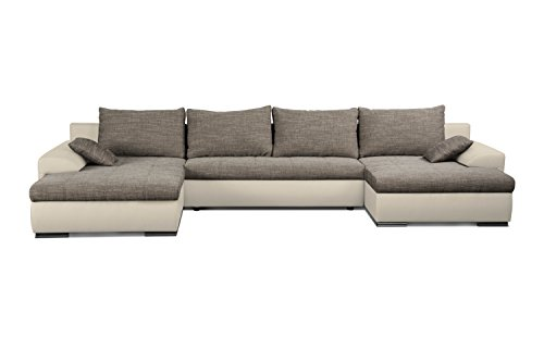 cavadore 5171 polsterecke u form wohnlandschaft ecksofa schaumstoff grau wei 365 x 200 x. Black Bedroom Furniture Sets. Home Design Ideas