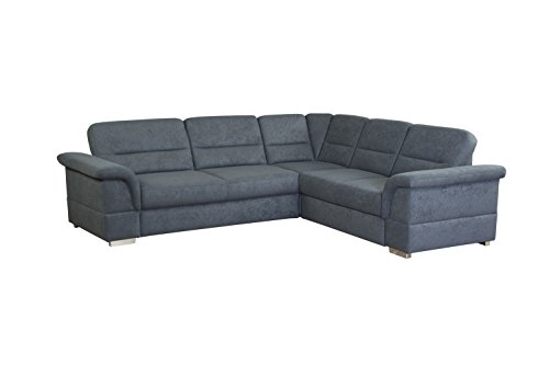 cavadore 5232 3er se 2er polsterecke ecksofa schaumstoff grau 262 x 233 x 87 cm. Black Bedroom Furniture Sets. Home Design Ideas