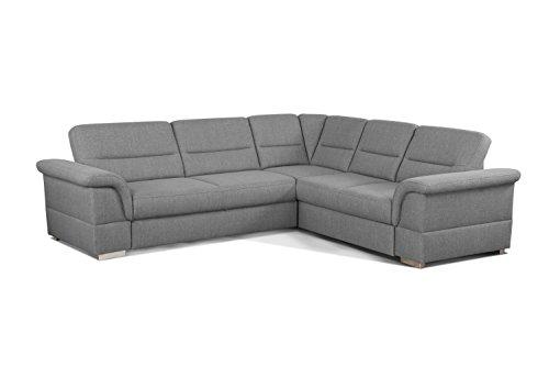 Cavadore 5900984021242 Polsterecke Ecksofa, Schaumstoff, grau, 262 x 233 x 87 cm