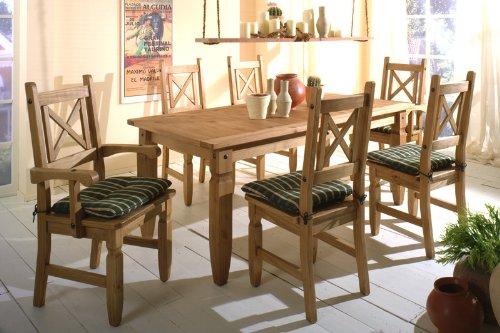 essgruppe mexico aus kiefer massivholz 7 teilig pharao24 skandinavische m bel. Black Bedroom Furniture Sets. Home Design Ideas
