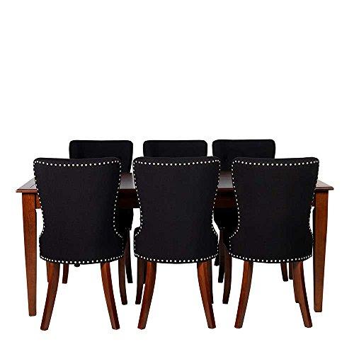 Essgruppe in braun schwarz italienisch 7 teilig pharao24 for Schlafzimmer set italienisch