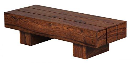 finebuy couchtisch massiv holz sheesham 120 cm breit wohnzimmer tisch design dunkel braun. Black Bedroom Furniture Sets. Home Design Ideas