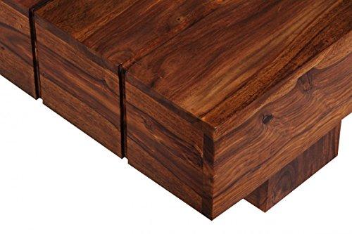 Finebuy couchtisch massiv holz sheesham 120 cm breit for Beistelltisch echtholz