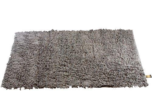 g zze teppich 100 baumwolle wollgarn hochfloroptik 70 x 120 cm anthrazit 1010 0648 72. Black Bedroom Furniture Sets. Home Design Ideas