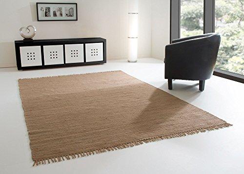 handweb teppich freiberg in schlamm aus 100 baumwolle gr e 120 170 cm skandinavische m bel. Black Bedroom Furniture Sets. Home Design Ideas