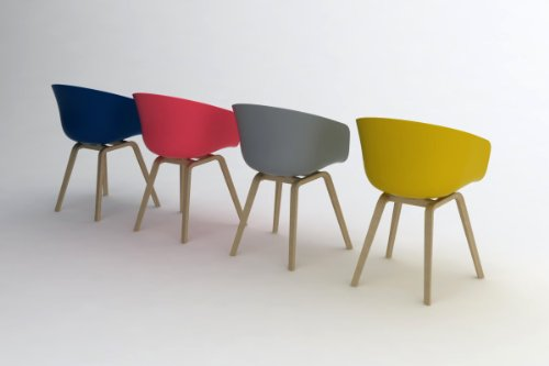 Hay Stuhl About A Chair Aac 22 Schwarz Gestell Eiche