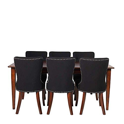 italienische essgruppe in braun schwarz ausziehbar 7 teilig pharao24 skandinavische m bel. Black Bedroom Furniture Sets. Home Design Ideas