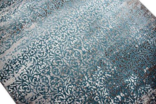 moderner teppich antik vintage ornamente grau creme trkis gre 80x150 cm 0 1 skandinavische m bel. Black Bedroom Furniture Sets. Home Design Ideas
