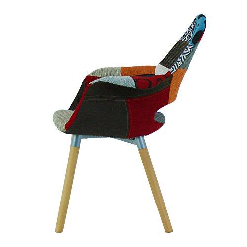 p n homewares moda patchwork stuhl esszimmerstuhl oder brostuhl oder stuhl wunderschner stoff. Black Bedroom Furniture Sets. Home Design Ideas
