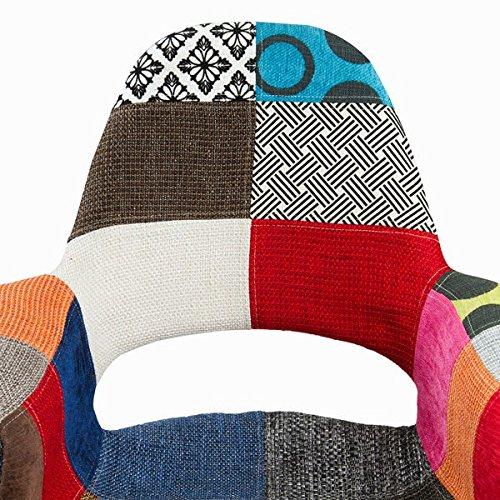 patchwork polypropylen stuhl by craften wood 0 0. Black Bedroom Furniture Sets. Home Design Ideas