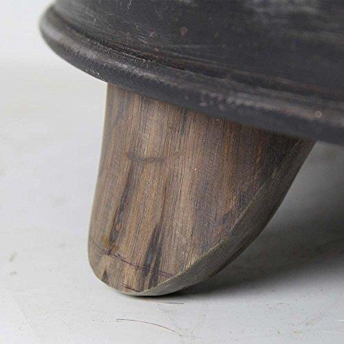 runder couchtisch aus teak massivholz eisen anthrazit pharao24 skandinavische m bel. Black Bedroom Furniture Sets. Home Design Ideas