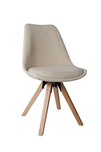 stuhl esszimmerst hle creme k chenst hle 2 er set farbauswahl mit holzbeinen sitzkissen. Black Bedroom Furniture Sets. Home Design Ideas