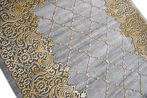 teppich traum designerteppich moderner teppich wohnzimmerteppich kurzflor bordre und ornamente. Black Bedroom Furniture Sets. Home Design Ideas