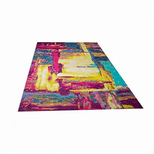 teppich traum designerteppich moderner teppich wohnzimmerteppich orientteppich bunt in gelb. Black Bedroom Furniture Sets. Home Design Ideas