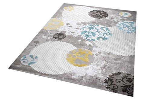 teppich traum moderner teppich wollteppich wohnzimmerteppich design in t rkis grau beige gr e. Black Bedroom Furniture Sets. Home Design Ideas