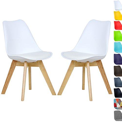 Woltu 2 x esszimmerstuhle esszimmerstuhl design stuhl for Küchenstuhl wei holz