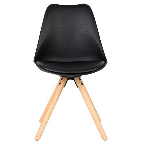woltu 6 x esszimmerst hle 6er set esszimmerstuhl mit sitzfl che aus kunstleder design stuhl. Black Bedroom Furniture Sets. Home Design Ideas