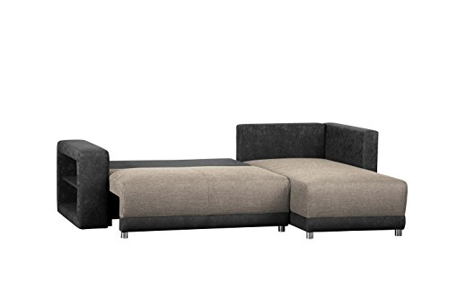 wohnlandschaft l form ohne federkern sofa mit schlaffunktion und bettkasten mit. Black Bedroom Furniture Sets. Home Design Ideas