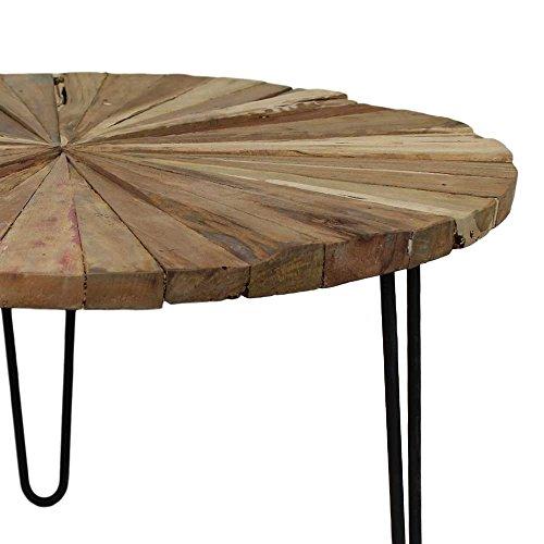 wohnzimmer couchtisch aus teak massivholz eisen pharao24 skandinavische m bel. Black Bedroom Furniture Sets. Home Design Ideas