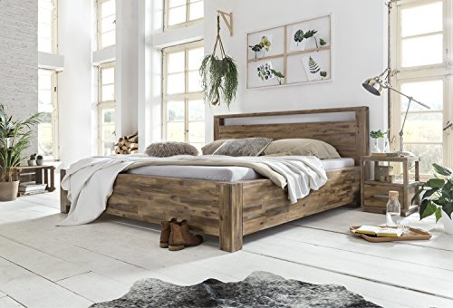 woodkings holz bett 180x200 havelock doppelbett akazie rustic schlafzimmer massivholz design. Black Bedroom Furniture Sets. Home Design Ideas