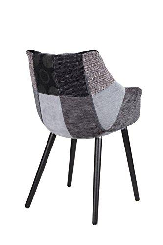 zuiver 1100267 stuhl twelve patchwork set of 2 stoff grau 60 x 60 x 82 cm 0 1 skandinavische m bel. Black Bedroom Furniture Sets. Home Design Ideas