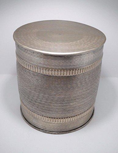 Beistelltisch metall silber kleiner couchtisch aluminium for Kleiner beistelltisch metall