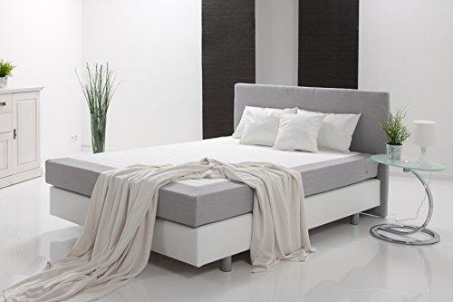 boxspringbett hotelbett polsterbett saturn 180x200cm inklusive topper kunstleder stoff. Black Bedroom Furniture Sets. Home Design Ideas