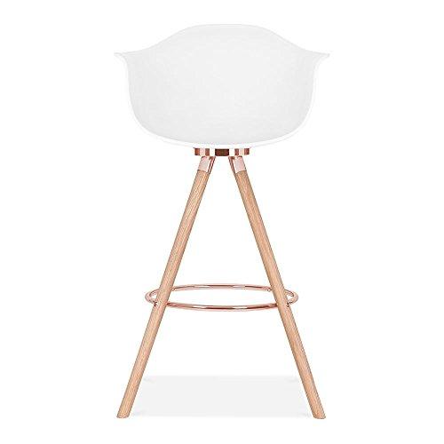 Cult design moda barhocker mit armlehne cd2 wei 0 3 for Küchenstuhl wei