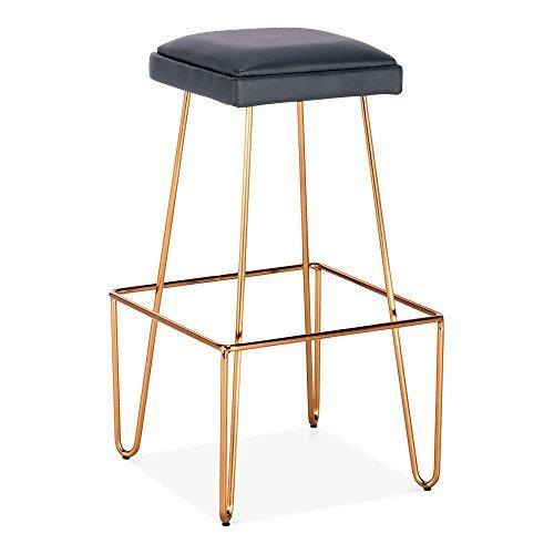 cult living newton metall bar hocker mit leder gepolstert sitz messing 76cm 75cm. Black Bedroom Furniture Sets. Home Design Ideas