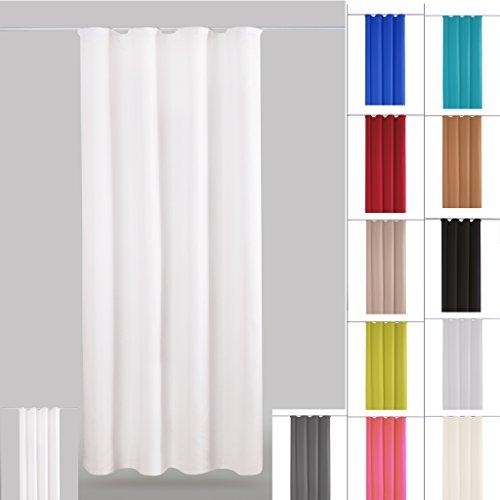 dekoschal gardine blickdicht universalband kr uselband microsatin auswahl wei perlwei. Black Bedroom Furniture Sets. Home Design Ideas