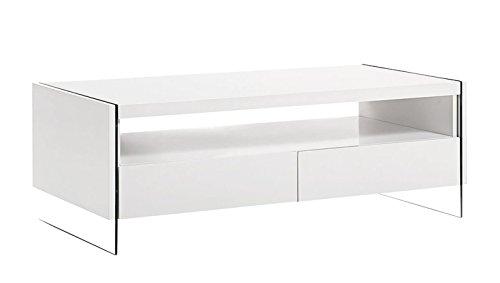 design couchtisch hochglanz wei wohnzimmer ablage glas tisch beistelltisch skandinavische m bel. Black Bedroom Furniture Sets. Home Design Ideas