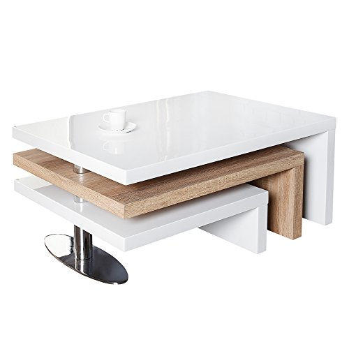 Funktioneller design couchtisch highclass hochglanz lack for Tisch design eiche