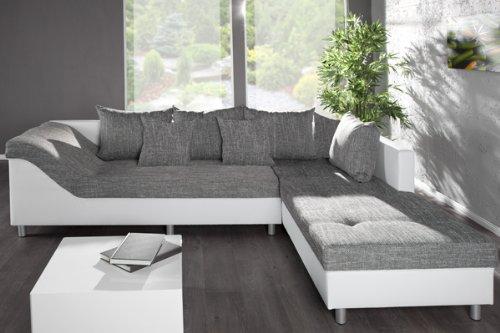 groes ecksofa sultan weiss strukturstoff grau ot rechts 0 skandinavische m bel. Black Bedroom Furniture Sets. Home Design Ideas