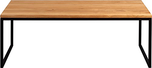 hometrends4you 264222 couchtisch holz wildeiche massiv ge lt metall schwarz matt 110 x 60. Black Bedroom Furniture Sets. Home Design Ideas