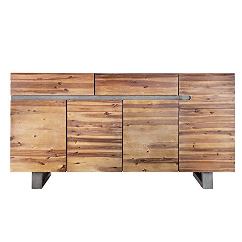 massives baumstamm sideboard genesis 170 cm akazie massivholz baumkante mit kufengestell. Black Bedroom Furniture Sets. Home Design Ideas