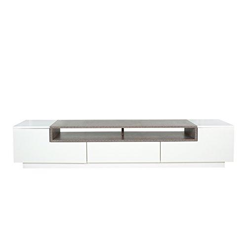 modernes tv board lowboard empire 180cm edelmatt wei beton optik skandinavische m bel. Black Bedroom Furniture Sets. Home Design Ideas