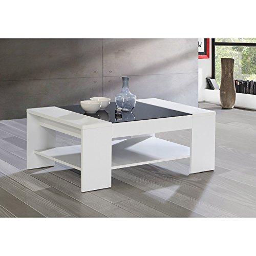 newface brady couchtisch mit ablage holz wei 120 x 71 x 45 cm skandinavische m bel. Black Bedroom Furniture Sets. Home Design Ideas