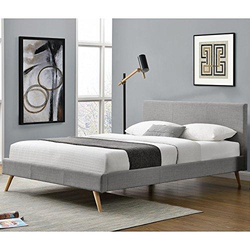 polsterbett toledo 140 x 200 cm mit lattenrost hellgrau skandinavische m bel. Black Bedroom Furniture Sets. Home Design Ideas