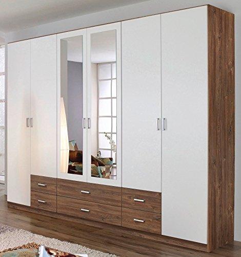 rauch kleiderschrank 6 trig 2 spiegeltren 6 schubksten. Black Bedroom Furniture Sets. Home Design Ideas
