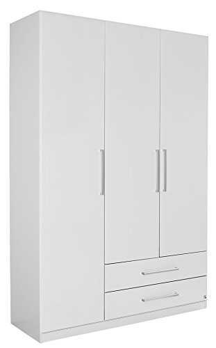 rauch kleiderschrank wei mit schubladen 3 t rig bxhxt 136x210x54 cm skandinavische m bel. Black Bedroom Furniture Sets. Home Design Ideas