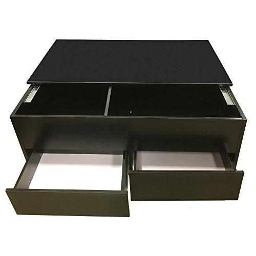 redstone schwarz couchtisch mit lagerung und 2 schublade 100cm skandinavische m bel. Black Bedroom Furniture Sets. Home Design Ideas