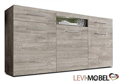 sideboard anbauwand wohnzimmer wohnwand beton optik matt neu 745603 0 skandinavische m bel. Black Bedroom Furniture Sets. Home Design Ideas