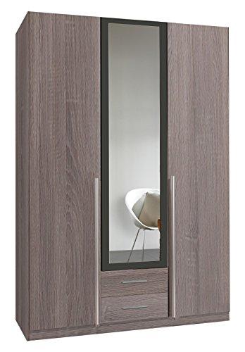 wimex 167484 kleiderschrank 3 t rig mit zwei schubk sten und einer spiegelt r korpus montana. Black Bedroom Furniture Sets. Home Design Ideas