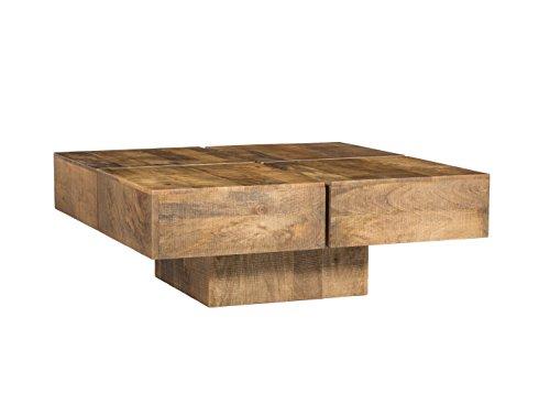 woodkings couchtisch amberley 80x80cm holz mango natural rustic echtholz modern design. Black Bedroom Furniture Sets. Home Design Ideas
