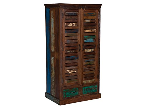 woodkings kleiderschrank wakefield 2t r recyceltes massivholz antik flurschrank vintage flur. Black Bedroom Furniture Sets. Home Design Ideas