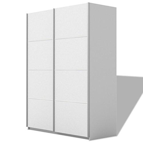 vidaxl kleiderschrank veranstalter kleidung aufbewahrung 2 schiebet r hochglanz 150 200 cm 2. Black Bedroom Furniture Sets. Home Design Ideas