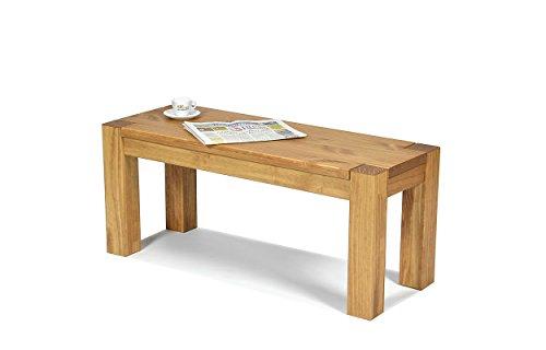 Sitzbank ,,Rio Bonito,, 100x38cm, Bank Massivholz Pinie, geölt und gewachst, Farbton Honig hell, Optional: passende Tische