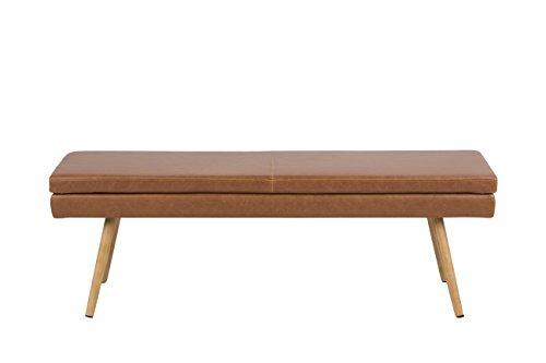 AC Design Furniture Trine Bank, Lederimitat, Cognac, 40,5 x 140 x 47,5 cm